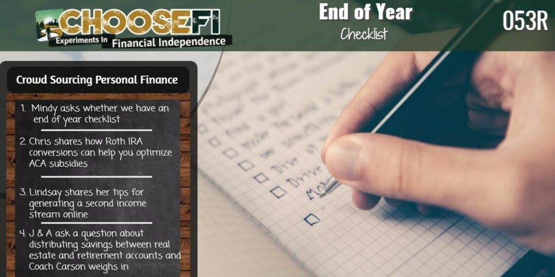 053R End of year Checklist