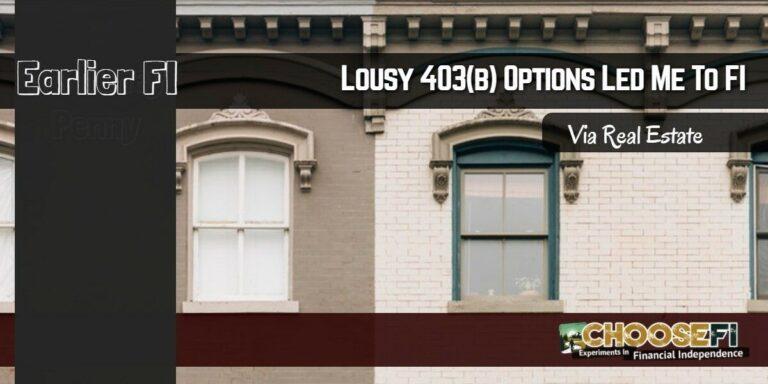 EarlierFI Lousy 403B