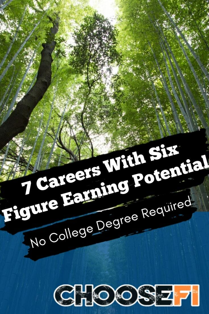 7 career earning potential