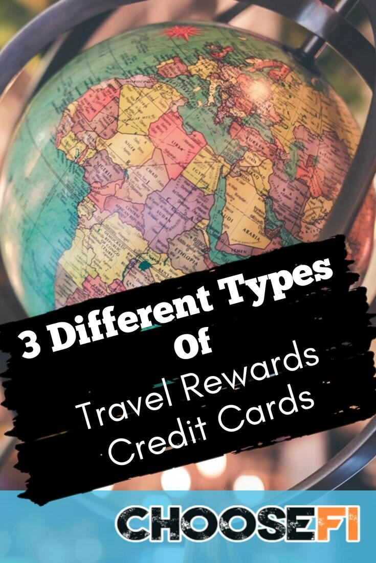 3 Different Types of Travel Rewards Credit Cards
