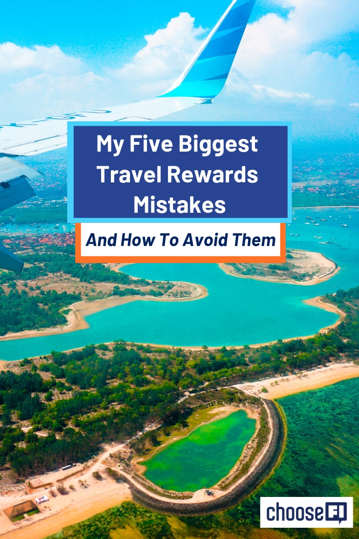 My Five Biggest Travel Rewards Mistakes pin