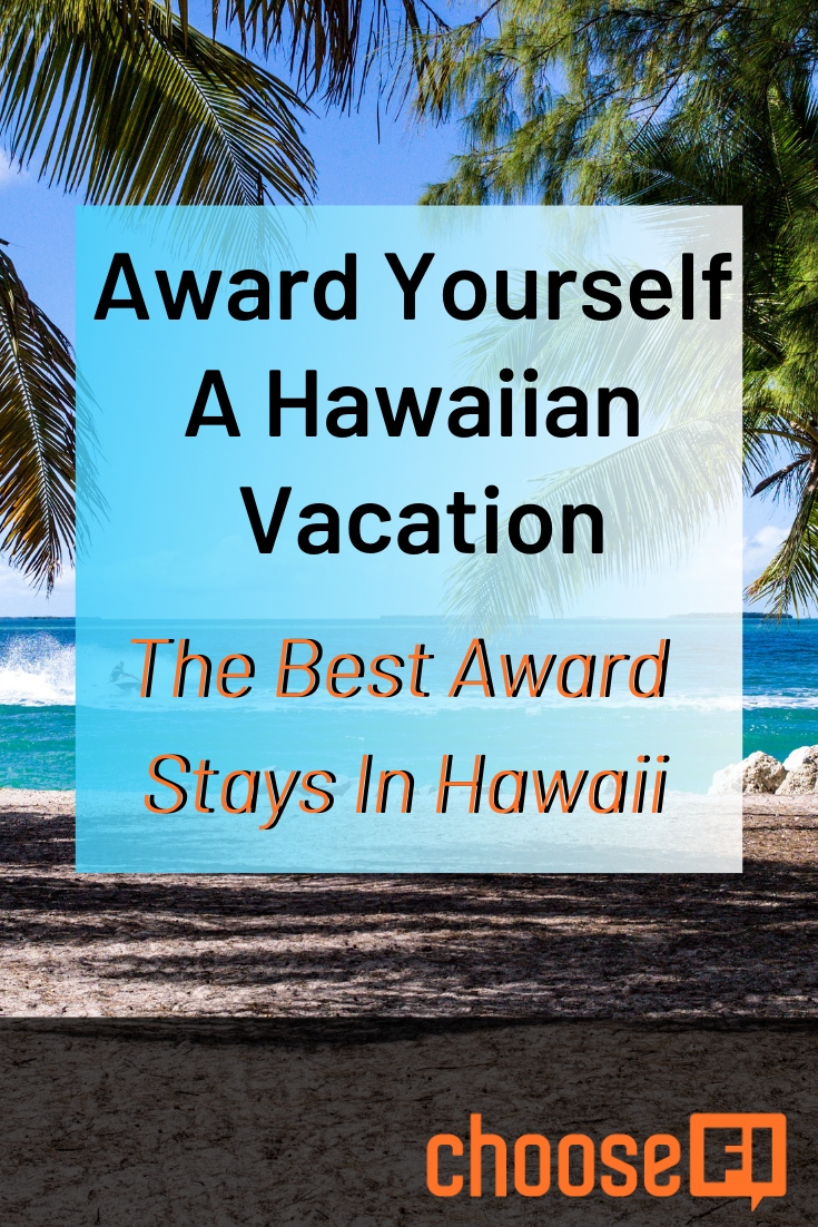 Award Yourself Hawaiian Vacation pin