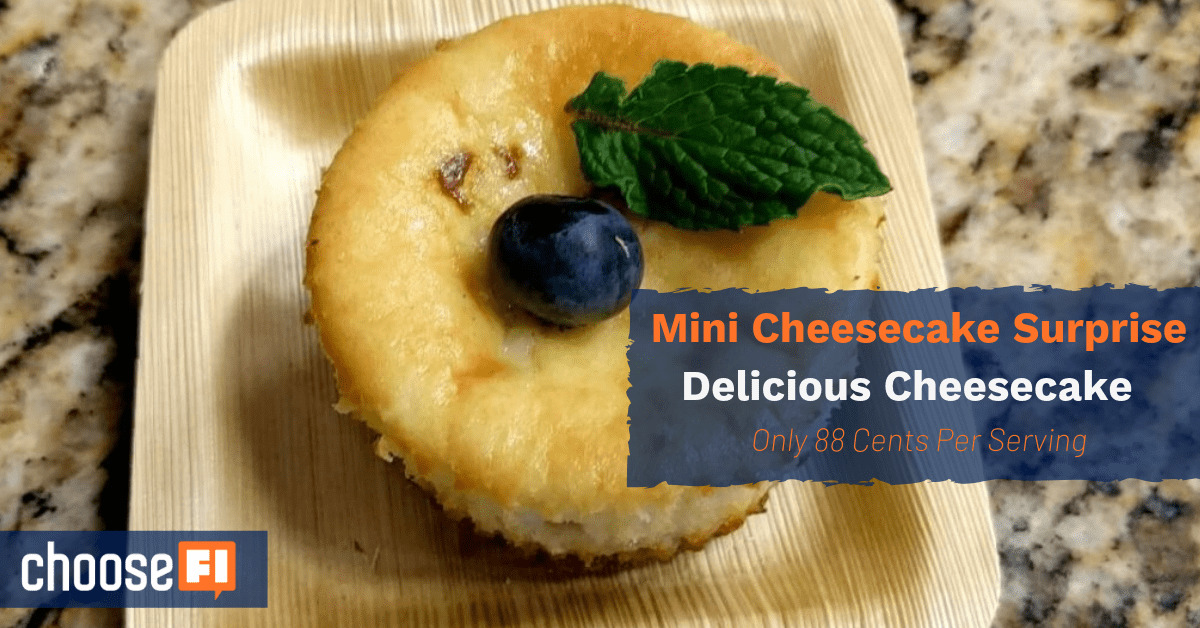 Mini Cheesecake Surprise: Delicious Cheesecake At Only 88 Cents Per Serving