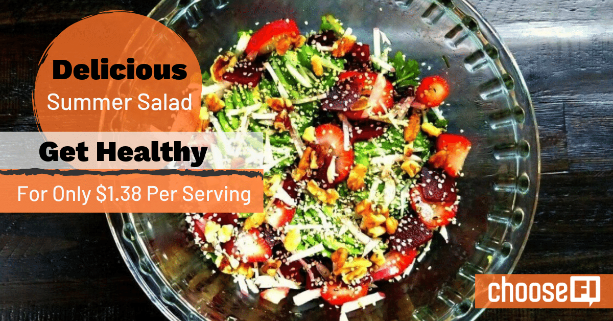 Delicious Summer Salad: Get Healthy For Only $1.38 Per Serving