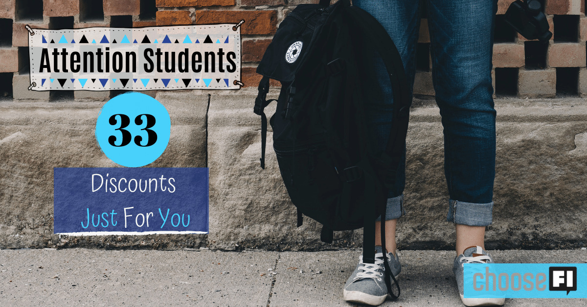 Attention Students! 33 Discounts Just For You