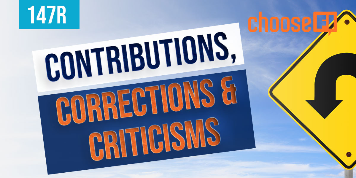 Contributions, Corrections And Criticisms