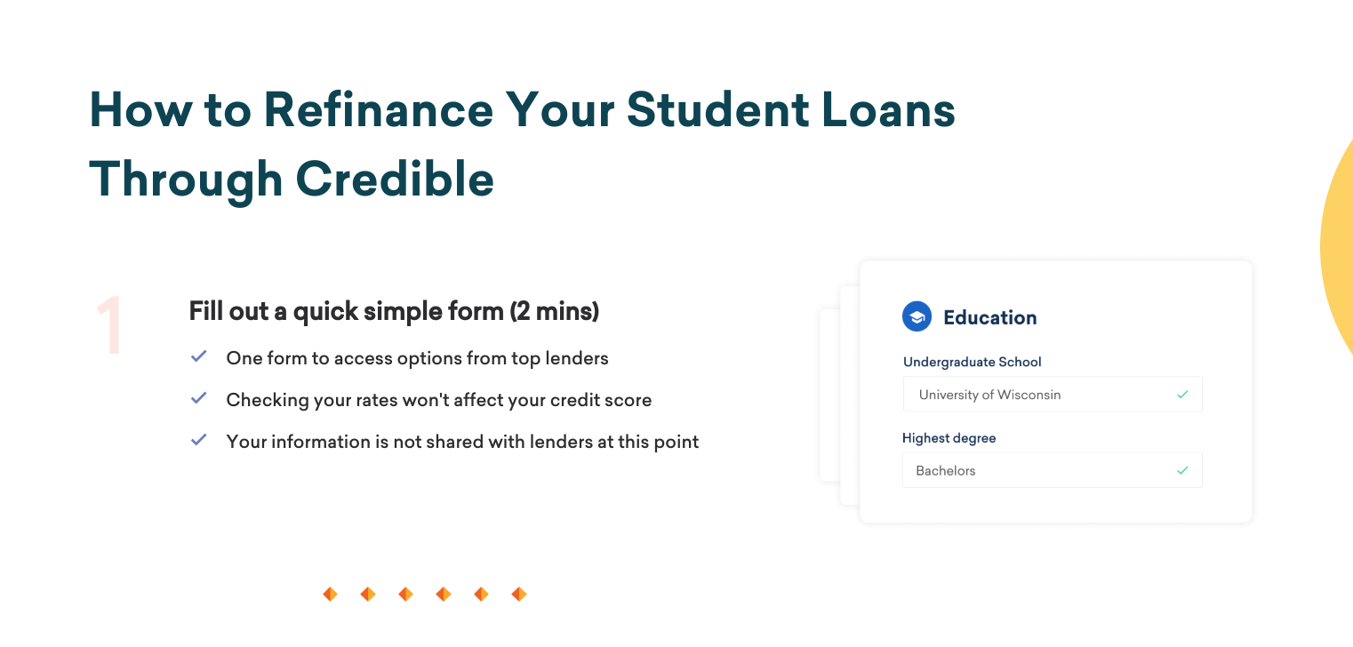refinancing student loans pros and cons (credible)