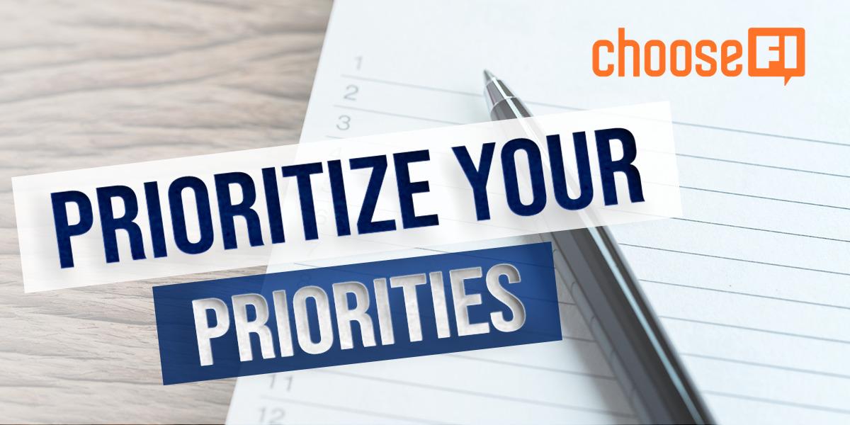 Prioritizing Your Priorities