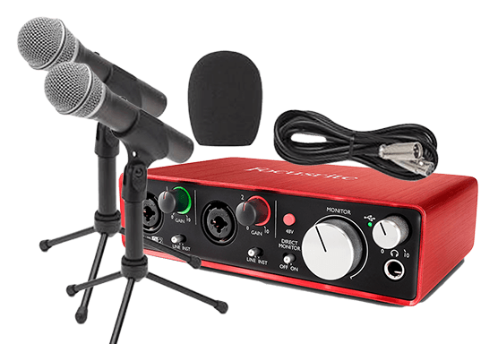 2 Person Podcast Setup for less than $300