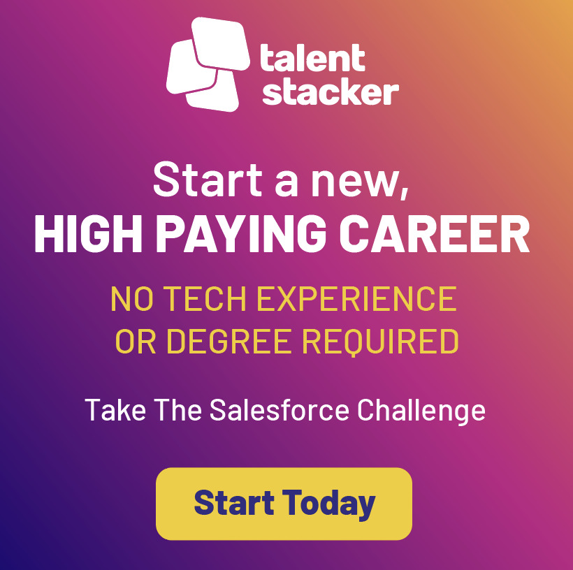 Talent Stacker Advertisement for Saleforce Challenge