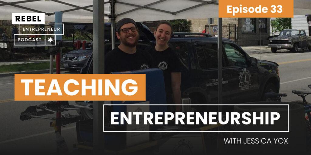 Teaching Entrepreneurship with Jessica Yox Artwork